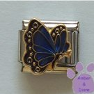 September BUTTERFLY Birthstone with blue-sapphire colored wings