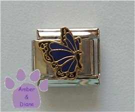 September BUTTERFLY Birthstone with deep blue-sapphire color win