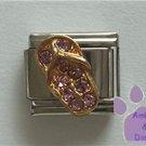 Flip Flop Crystal Birthstone Italian Charm Alexandrite-Purple June
