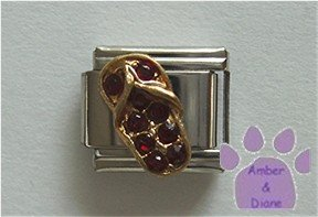 Flip Flop Crystal Birthstone Italian Charm Garnet-Red for January
