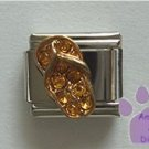 Flip Flop Crystal Birthstone Italian Charm Topaz-Yellow for November