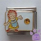 November Birthstone RAG DOLL Italian Charm with Topaz Crystal