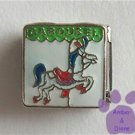 CAROUSEL in green enamel with White Horse Italian Charm