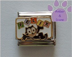 FELIX Italian Charm Cartoon Character Felix the Cat