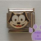 Felix the Cat Italian Charm Face of Cartoon Cat Felix