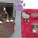 Hello Kitty Dangle Italian Charm Kitty in pink outline