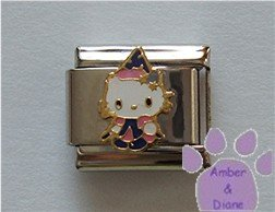 Hello Kitty in a Witch Costume Italian Charm Ready for Halloween