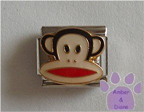 Julius Monkey Italian Charm wide-mouthed monkey face