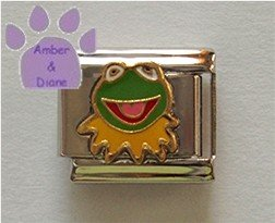 Kermit the Frog Italian Charm from Sesame Street and The Muppets