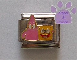 Patrick Star and SpongeBob SquarePants Italian Charm