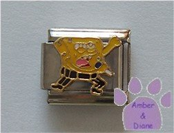 SpongeBob SquarePants Italian Charm with microphone
