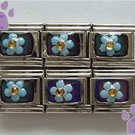 Blue Flower Mood Italian charm changes color with your mood
