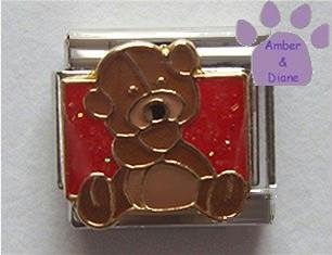 A Big Bear Hug Italian Charm Teddy Bear Hug