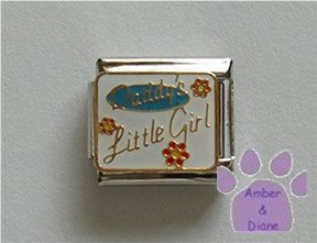 Daddys Little Girl Italian Charm with flowers