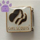 Girl Scout Symbol Italian Charm in black and white