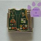 Girl Scout Uniform Italian Charm Vest with Badges