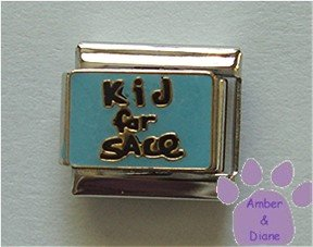 Kid for Sale Italian Charm on blue enamel