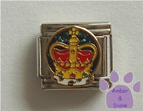 Royal Crown Italian Charm for the Princess or Queen in your life