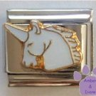 Gorgeous White Unicorn Head Italian Charm