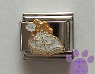 Spellbook Italian Charm with Magic Dust and Glitter Smoke