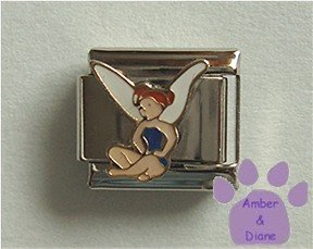 Very Cute Fairy Italian Charm sitting cross-legged