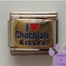 I love (red heart) Chocolate Kisses Italian Charm