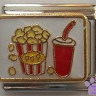 Popcorn and a Soda Italian Charm for movie fans