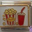 Popcorn and a Soda Italian Charm for movie fans