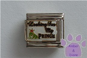 Looking For My PRINCE Italian Charm frog with a crown