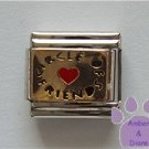 Circle of Friends Italian Charm gold tone with a red heart