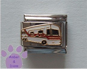 Motor Home RV Italian Charm Recreational Vehicle White and Red