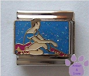 Dreaming Ballerina Italian Charm for Ballet Dancer