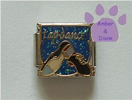 tap dance Italian Charm with Tap Shoes Ready to Dance