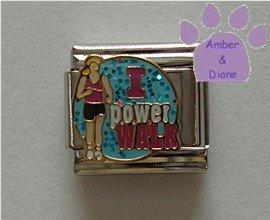 I power WALK Italian Charm Walker on Blue Glitter