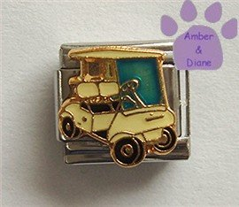 Golf Cart Italian Charm for the Avid Golfer