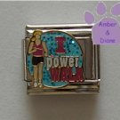 I power WALK Italian Charm Walker on Blue Glitter