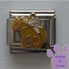Jockey on Horse Italian Charm Horseback Rider Riding