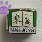 MAH-JONG Italian Charm with Chinese Characters on Book