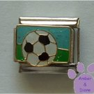 Soccer Ball Italian Charm on a glitter sky and field background