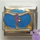 Gymnast on Balance Beam Italian Charm for Gymnastics