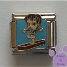 Little Girl on Balance Beam Italian Charm