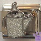 Metallic-look Glitter Watering Can Italian Charm for Gardener
