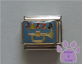 JAZZ Italian Charm trumpet and music note