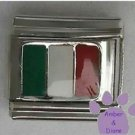 Italian Flag in Green, White and Red for Italy Italian Charm
