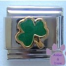 Lucky Green Shamrock Italian Charm Ireland Irish