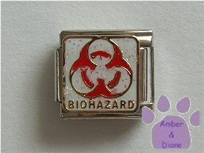 Nuclear Hazard Symbol Italian Charm BIOHAZARD