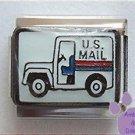 United States Postal Truck Italian Charm US Mail