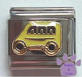 Yellow School Bus Italian Charm for Bus Driver or Parents