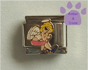 Teen Angel Italian Charm sitting and thinking