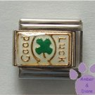 Four Leaf Clover Good Luck Italian Charm